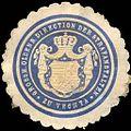 Siegelmarke Grossherzoglich Oldenburger Direction der Strafanstalten zu Vechta W0214039.jpg