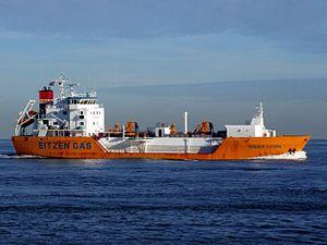 Sigas Lydia p2 approaching Port of Rotterdam, Holland 21-Feb-2005.jpg
