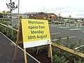 Sign informing of new supermarket, High Street, Saltney, Flintshire - DSC08081.JPG