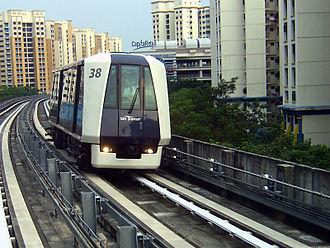 Sengkang LRT line - A Mitsubishi Heavy Industries Crystal Mover on the LRT's East Loop