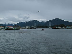 Looking down Sitka Channel in the early morning.