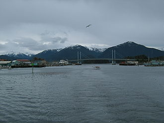 Sitka Channel - A view down Sitka Channel.