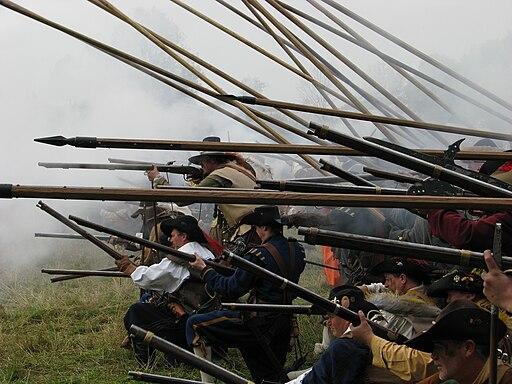 Slag om Grolle 2008-2 - Staatse musketiers en piekeniers in slagformatie