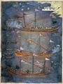 Sloane 3584 f.78v Turkish galleys in battle, c.1636.PNG