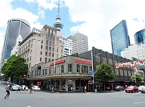 Smith & Caughey's - The Queen and Wellesley Street West facades of the Queen Street store in the Auckland CBD