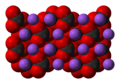 Space-filling model of sodium carbonate