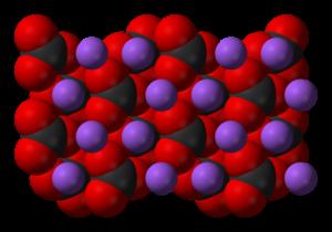 Sodium carbonate - Image: Sodium carbonate xtal 3D SF C