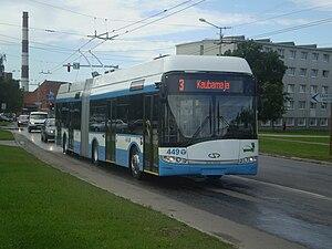 Solaris Bus & Coach - Solaris Trollino 18AC trolleybus in Tallinn in Estonia
