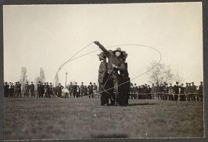 Trick roping - Trick roping, circa 1914