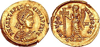 Galla Placidia - Solidus of Galla Placidia