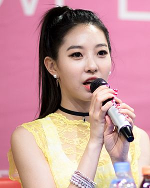 Song Dahye at a fansigning event in Incheon, 24 May 2015.jpg