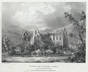 South View Tintern Abbey. As seen from the New Road