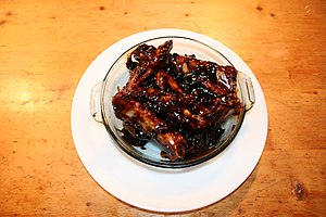 Spare ribs - The westernized version of Chinese spare ribs is actually prepared in a manner more common to a Cantonese dish called char siu
