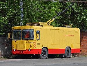 Trolleytruck - Trolleytruck KTG-1 in Saint Petersburg, Russia