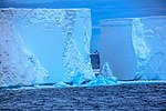 Spectacular Christmas morning cruise through the remants of giant Tabular iceberg B15Y, which is now grounded just off Bransfield Island at the N tip of the Antarctic Peninsula. (25999508315).jpg