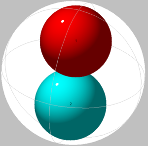 Sphere packing in a sphere - Image: Spheres in sphere 02