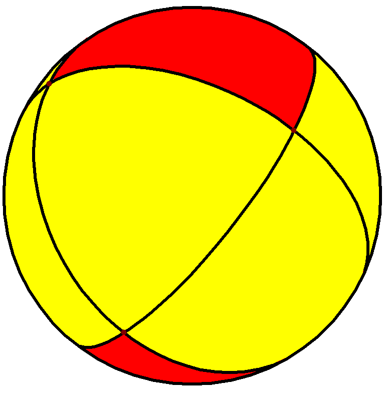 Spherical trigonal antiprism