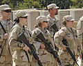 Spouses of U.S. Soldiers endure training in tactical Warfare for a day during the Combat Spouse's day event at the Forward Operating Base on, Fort Gordon Ga 090421-A-NF756-001.jpg