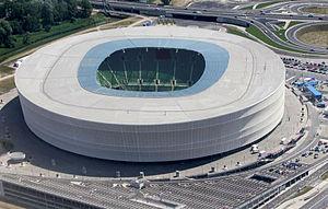 Stadion Miejski (Wrocław) - Image: Stadion we Wrocławiu 2013