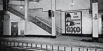 Aldgate East tube station - The resited Aldgate East station, showing its modernist, simple appearance.