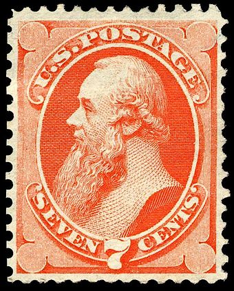 The 1st Stanton postage stamp, issue of 1871 Stanton 1871-7c.jpg