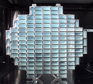 Aerogel - The Stardust dust collector with aerogel blocks. (NASA)