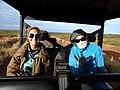 Starr-171213-0635-Bothriochloa pertusa-with Jenny and Kim in Polaris cart-K1 Uprange-Kahoolawe (38479853420).jpg