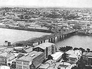Victoria Bridge, Brisbane - Victoria Bridge in 1933
