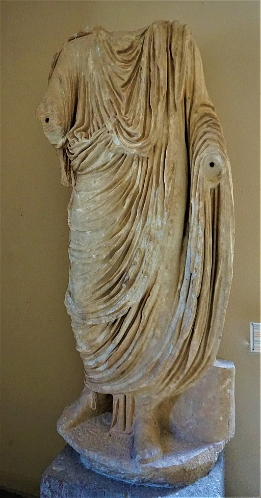 Statue of a Toga-clad Roman Dignitary - Archaeological Museum of Epidaurus