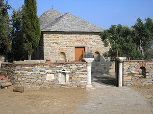 Stavronikita - The chapel of Saint Demetrius, built in 1770.