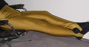 Stirrup pants - Stirrup pants designed as sportswear.