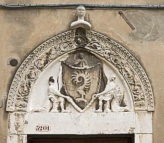 Palazzo Malipiero - Coat-of-arms of Malipiero on the Palace entrance