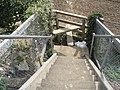 Stile at bottom of steps between Barnham railway fork - geograph.org.uk - 576812.jpg