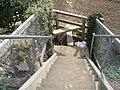 Stile at bottom of steps between Barnham railway fork - geograph.org.uk - 576812.jpg