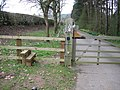 Stile near the old A5 - geograph.org.uk - 152304.jpg