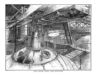 Powers (whiskey) - The Still House at John's Lane Distillery, as it looked when Alfred Barnard visited in the 1800s.