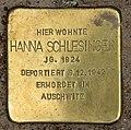 Stolperstein Bartningallee 3 (Hansa) Hanna Schlesinger.jpg
