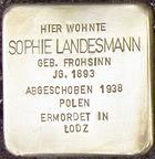 Stolperstein Siegen Landesmann Sophie geb Frohsinn.jpeg
