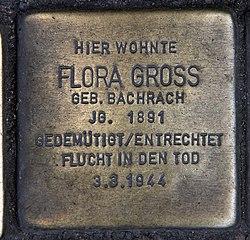 Photo of Flora Gross brass plaque
