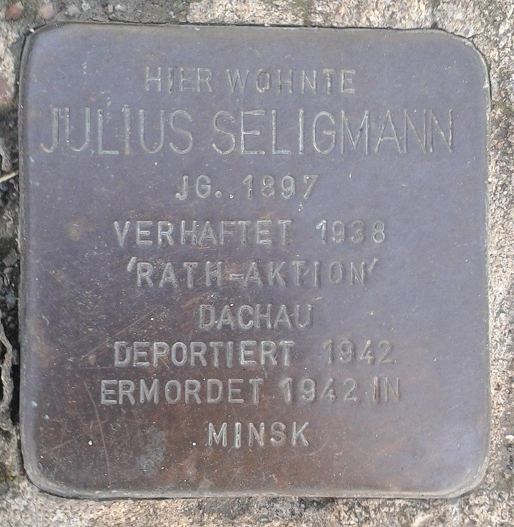 Stolperstein Windeck Rosbach Mittelstraße 20 Julius Seligmann