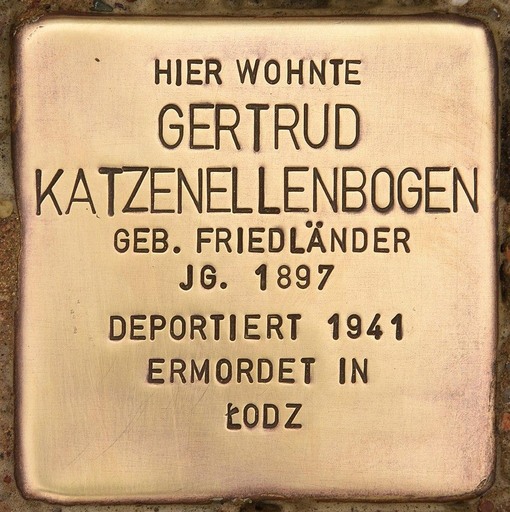 Stolperstein für Gertrud Katzenellenbogen (Liebenwalde).jpg