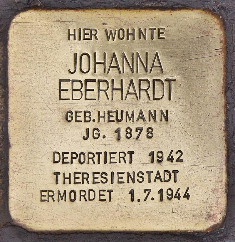 Stolperstein für Johanna Eberhardt (Maßbach).jpg