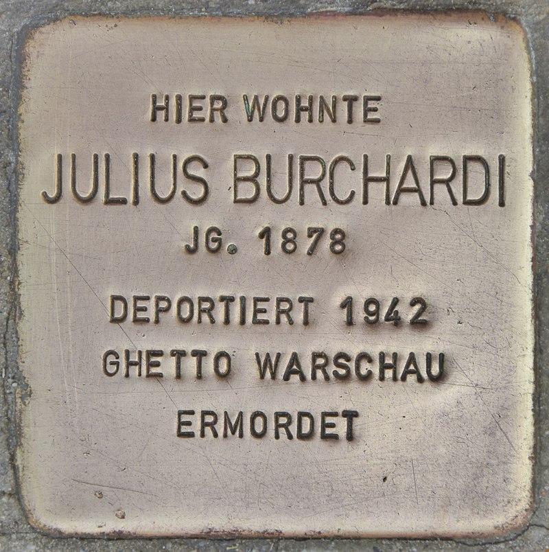 Stolperstein für Julius Burchardi (Lübben)