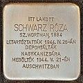 Stolperstein für Schwarz Roza geb. Wortman (Lendava).jpg