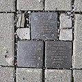Stolpersteine für Familie Schalit, Brückenstrasse-Theaterstrasse, Chemnitz.JPG