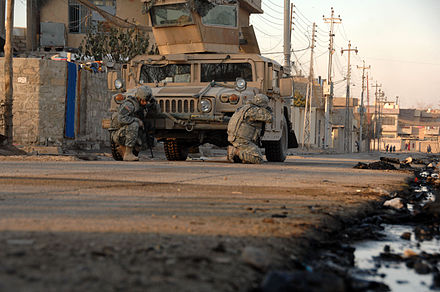 Street fighting in Mosul in January 2008 Street fighting Mosul.jpg