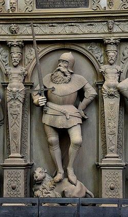 Stuttgart Stiftskirche Grafenstandbilder Figur 06 Eberhard der Greiner.jpg