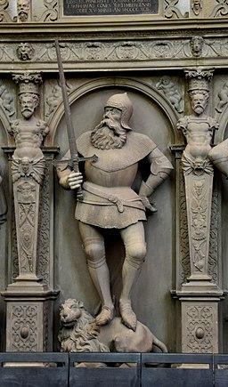 Stuttgart Stiftskirche Grafenstandbilder Figur 06 Eberhard der Greiner