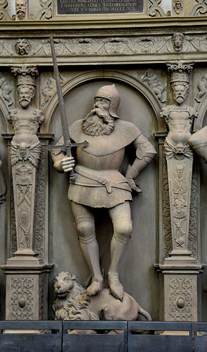 Eberhard II, Count of Württemberg - Eberhard II, statue at the Stiftskirche (Stuttgart)
