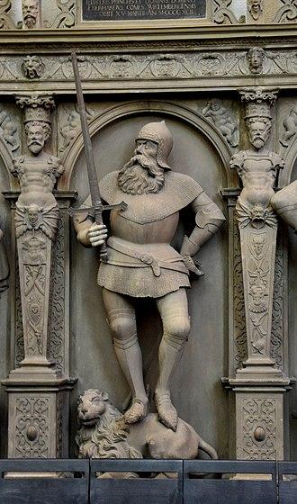 Eberhard II, Count of Württemberg - Eberhard II, statue at the Stiftskirche (Stuttgart)